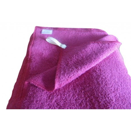 Pink organic cotton french terry bath towel - 100% organic cotton