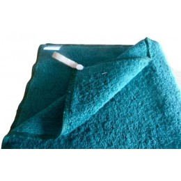 Green organic cotton dark green french terry hand towel - 100% organic cotton