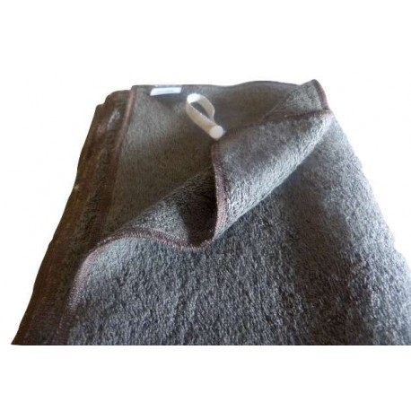 Organic cotton chocolate french terry bath towel - 100% organic cotton