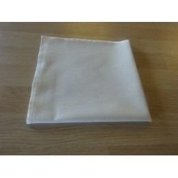 Cream organic cotton table napkin