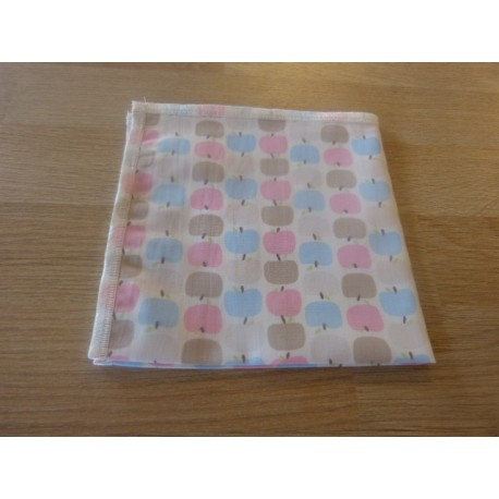 Apple print organic cotton handkerchief