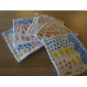 Lingettes lavables 10 x 10 cm imprimé fruits - Lot de 5