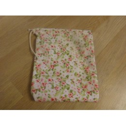 No waste fabric bags - 1 bag 100% organic cotton - romantic flowers