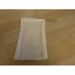 Large washable tea bag for teapot 100% organic cotton