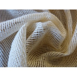 Cream organic cotton big net fabric - Sample