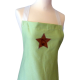 Green organic cotton apron