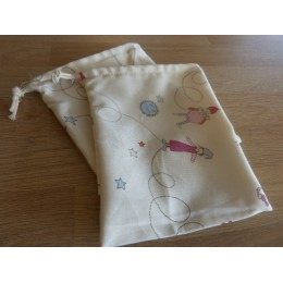 No waste fabric bags - 1 bag 100% organic cotton -dwarves