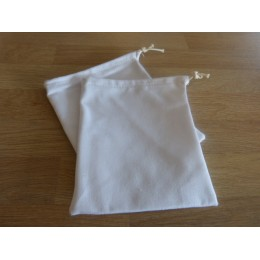 No waste fabric bags - 1 bag 100% organic cotton -White twill