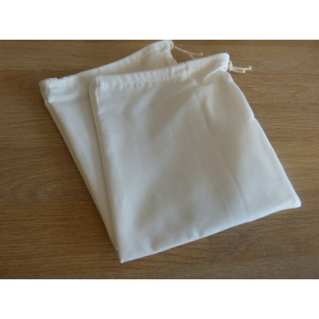 No waste fabric bags - 1 bag 100% organic cotton -White poplin