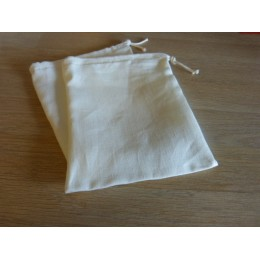 No waste fabric bags - 1 bag 100% organic cotton -White linen