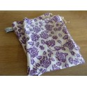 No waste fabric bags - 1 bag 100% organic cotton - Violets