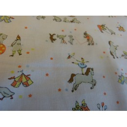 Organic cotton circus print topponcino cover