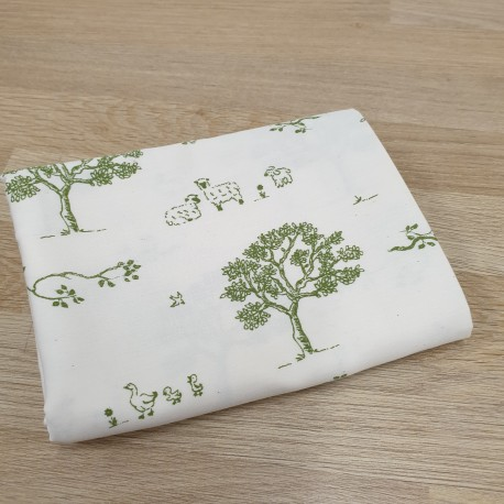 Tree organic cotton pillow case
