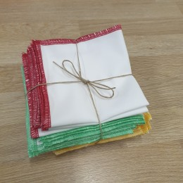 25 organic cotton handkerchiefs
