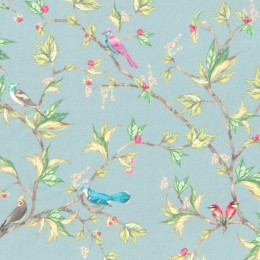 Parrot tree print organic cotton poplin - Sample