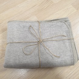 Champagne blanket 100% organic linen jersey