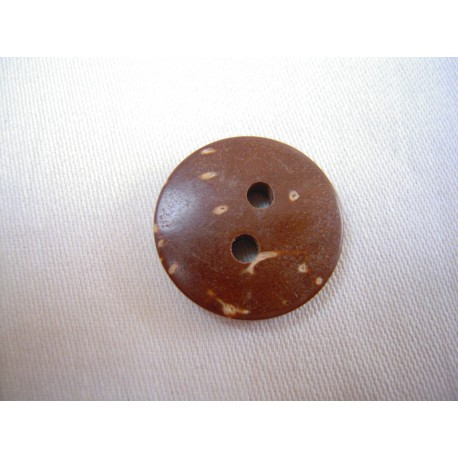Bouton en coco naturel 18 mm